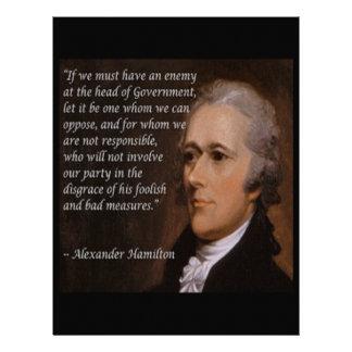 """Papel Timbrado """"Presente do líder inimigo"""" de Alexander Hamilton"""