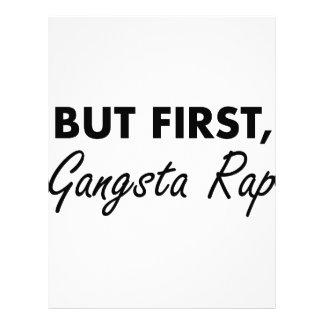 Papel Timbrado Primeiro rap de Gangsta
