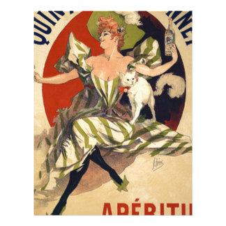 Papel Timbrado Propaganda do francês do vintage
