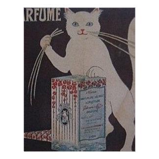Papel Timbrado Propaganda francesa do vintage - gatos