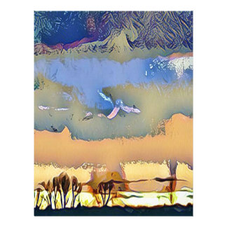 Papel Timbrado Queda clara colorida céu abstrato tonificado do