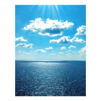 Papel Timbrado Raios sobre o mar