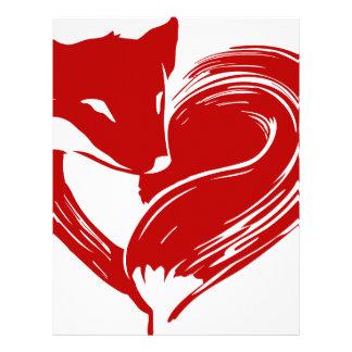 Papel Timbrado Raposas do amor