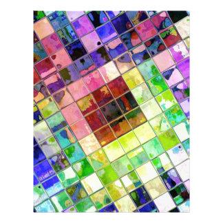 Papel Timbrado Reflexões telhadas coloridos diagonais