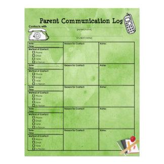 Papel Timbrado Registro de uma comunicação do pai