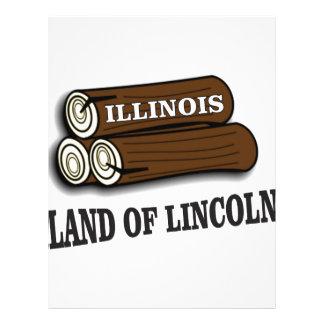 Papel Timbrado Registros de Illinois de Lincoln