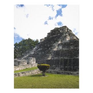 Papel Timbrado Ruínas maias de Chacchoben do Maya da costela