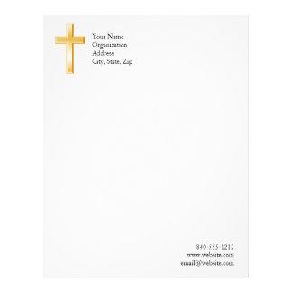 Papel Timbrado Símbolo transversal cristão