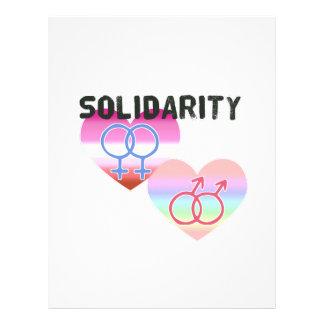 Papel Timbrado Solidariedade alegre lésbica