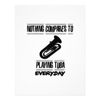 Papel Timbrado Tendendo o design do jogador da tuba
