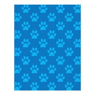 Papel Timbrado Teste padrão azul das patas do filhote de cachorro