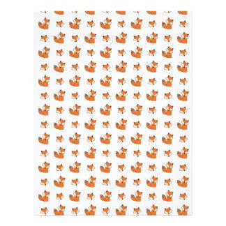 Papel Timbrado teste padrão das raposas vermelhas