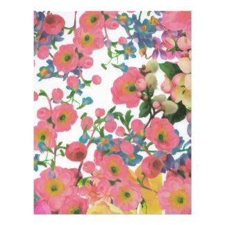 Papel Timbrado teste padrão floral do tema das flores elegantes