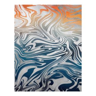 Papel Timbrado Teste padrão líquido de prata abstrato