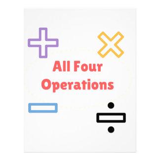 Papel Timbrado Todas as quatro operações