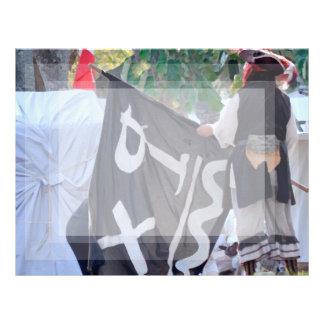 Papel Timbrado tomada abaixo da imagem do poster da bandeira de