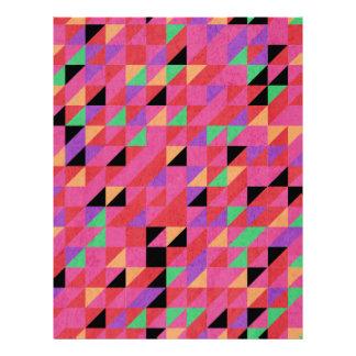 Papel Timbrado Triângulos de escarlate e de carmesins