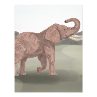Papel Timbrado Um elefante do savana