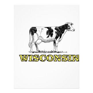 Papel Timbrado Vaca de leiteria de Wisconsin