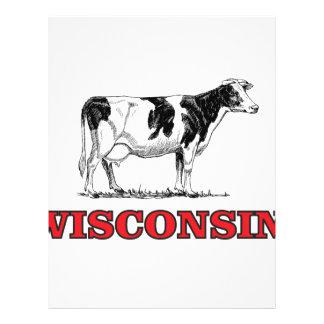 Papel Timbrado vaca vermelha de Wisconsin