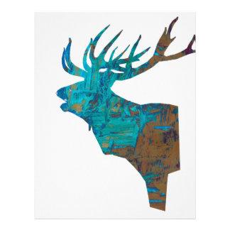 Papel Timbrado veado principal dos cervos nos turquois