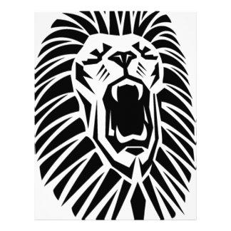 Papel Timbrado vecto principal do leão