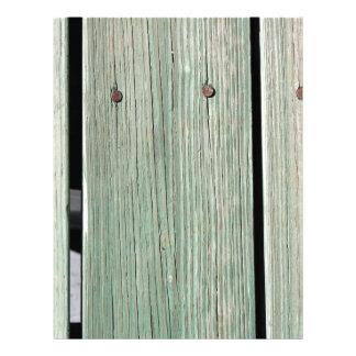 Papel Timbrado Verde e passagem de madeira da prancha de Brown