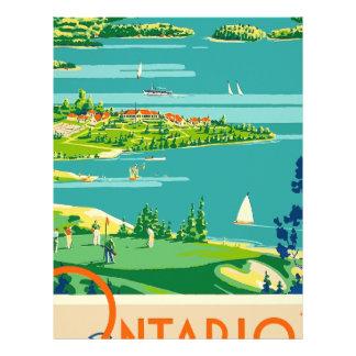 Papel Timbrado Viagens vintage Ontário Canadá