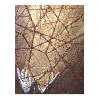 Papel Timbrado Vidro quebrado e luz solar
