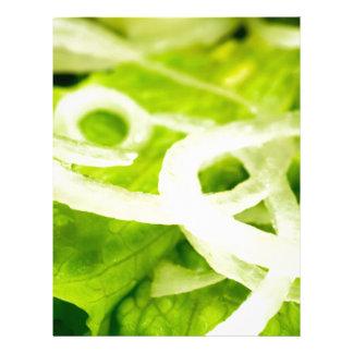 Papel Timbrado Vista macro das folhas do anel da alface e de