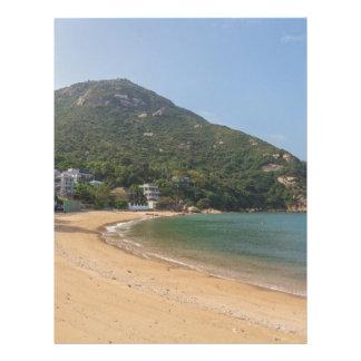 Papel Timbrado Vista panorâmica da ilha macilento de Sok Kwu