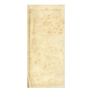 Papel velho manchado rústico bonito do vazio da 10.16 x 22.86cm panfleto