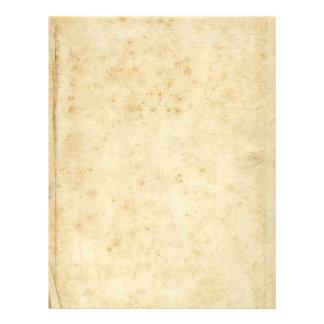 Papel velho manchado rústico bonito do vazio da flyer 21.59 x 27.94cm