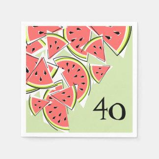 Papel verde dos guardanapo da idade 40 da melancia