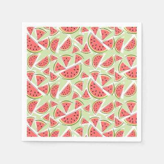 Papel verde dos guardanapo da melancia multi