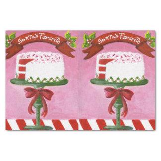 Papel vermelho do bolo de veludo do Natal
