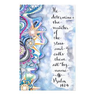 Papelaria 147:4 do salmo chama as estrelas pelo nome