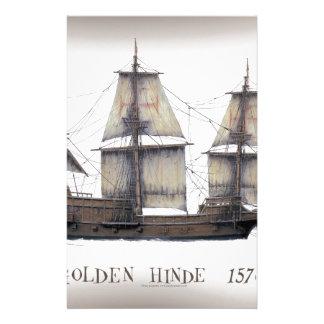 Papelaria 1578 ouro Hinde