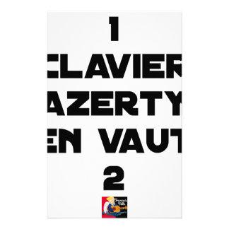 Papelaria 1 TECLADO AZERTY VALER 2 - Jogos de palavras