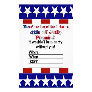 Papelaria 4o do convite de festas de julho
