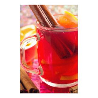 Papelaria A caneca transparente com citrino mulled o vinho,