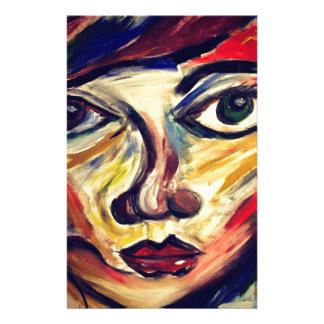 Papelaria A cara da mulher abstrata