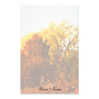 Papelaria A foto da arte da natureza das árvores da cor do
