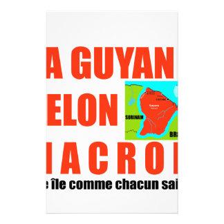 Papelaria A Guiana de acordo com Macron é uma ilha