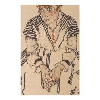Papelaria A irmã do artista de Egon Schiele- na lei