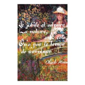 Papelaria A natureza no art. de Monet