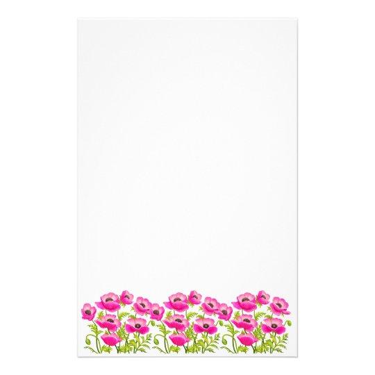 Papelaria A papoila de jardim cor-de-rosa floresce artigos