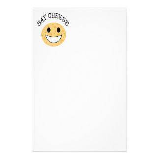 Papelaria a piada bonito engraçada diz o queijo