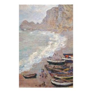 Papelaria A praia em Etretat - Claude Monet