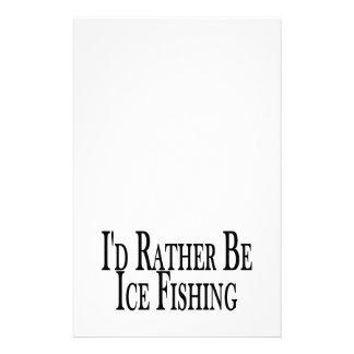 Papelaria A preferencialmente seja pesca do gelo